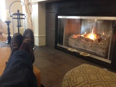 Monday. I read by the fire.