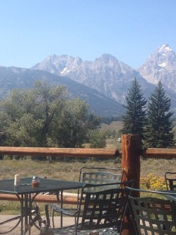 Our view at lunch in Moose
