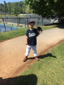Elijah is ready for his baseball game.