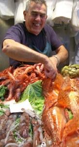 The fishmonger we visited in Palma de Mallorca