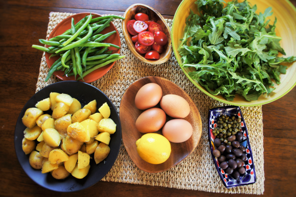 Ingredients for Salade Nicoise