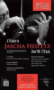 De Anza Chamber Orchestra Concert - Tribute to Jascha Heifetz