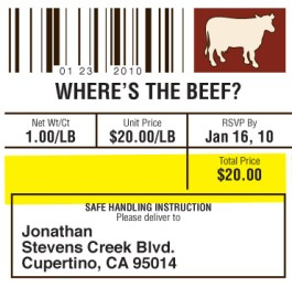 Where's the Beef - Address Label