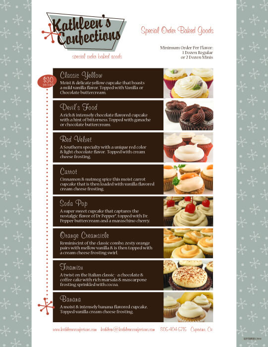 Kathleen's Confections Menu