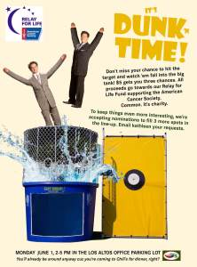 Sereno Group Dunk Tank Fundraiser event