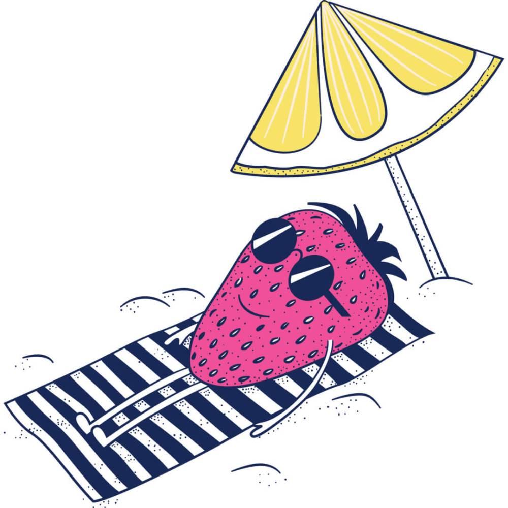 Health-Ade kombucha Strawberry Lemonade Sunbather