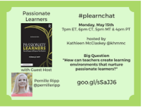 plearnchat on May 15th with Pernille Ripp