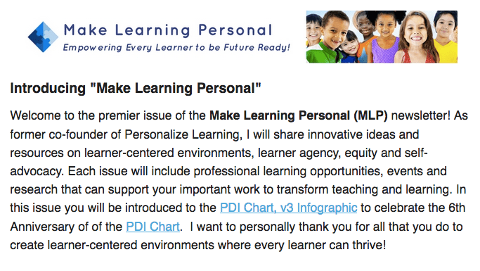 Make Learning Personal Newsletter