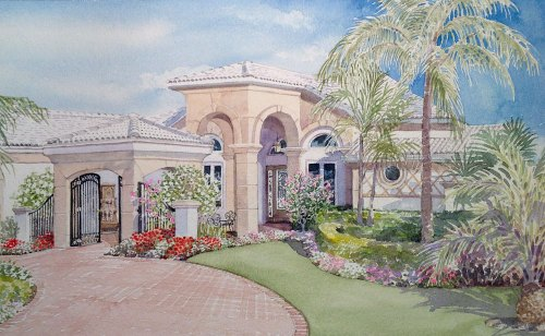 florida-home-with-entry-gate