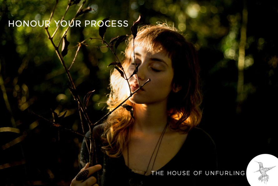 "Honour your process. Click to read the Full Article: ""The Myth Of Alignment (and what to aim for instead)"" - Soulful Success - kathleensaelens.com"