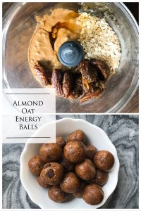 Just 5 ingredients pulsed up in your food processor and you have healthy, clean, energy balls for when you need a quick pick me up. Kathleenscravings.com