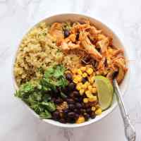 Instant Pot Salsa Chicken Quinoa Bowls