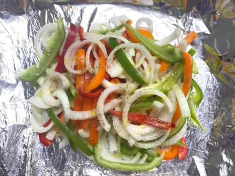 peppers and onion in foil packet for instant pot