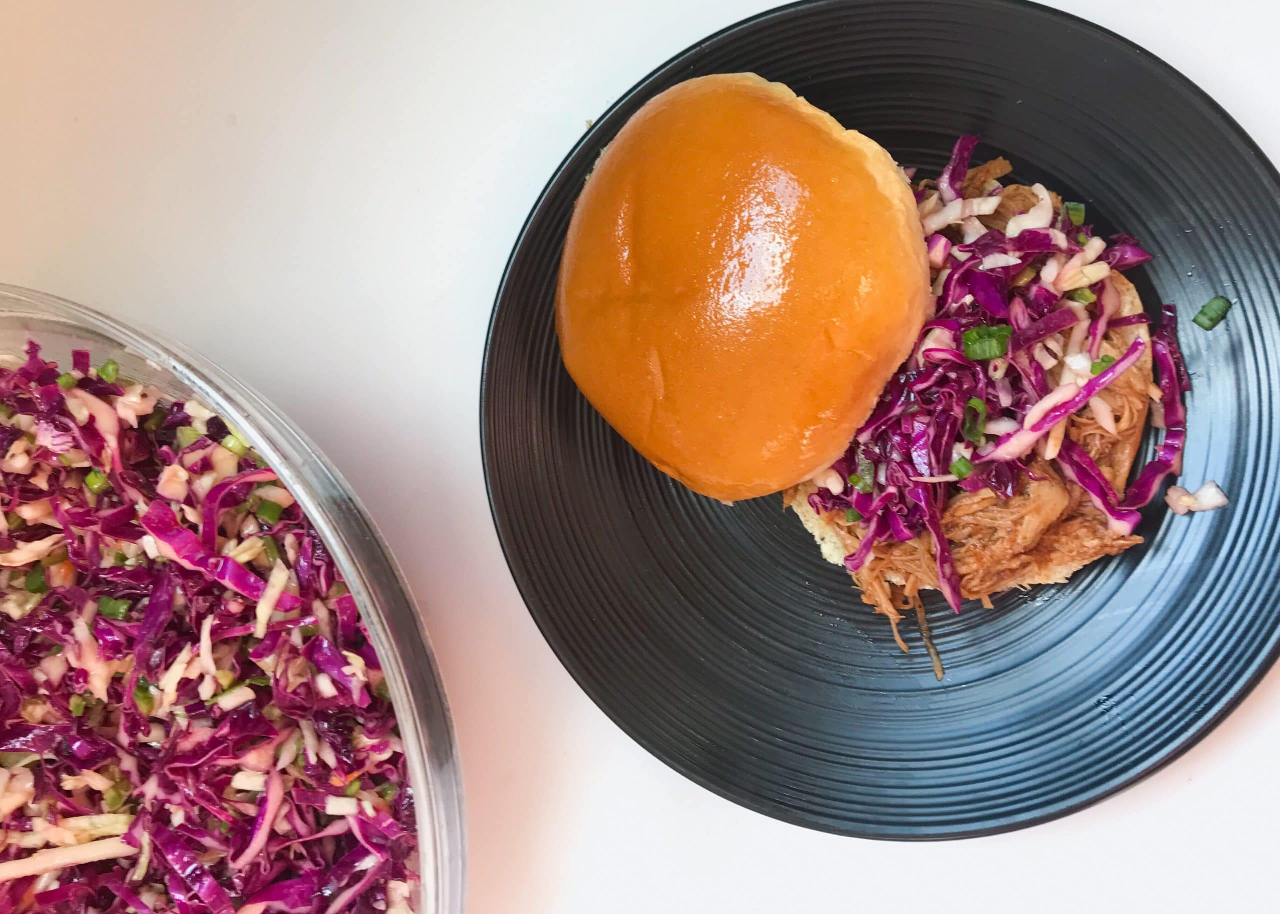 Instant Pot (or Slow Cooker) BBQ Pulled Pork with Jalapeño Slaw
