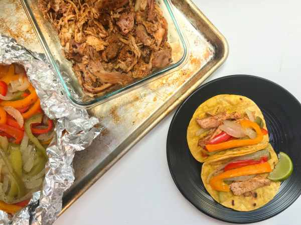 Easy chicken fajitas with peppers and onions that cook up in the Instant Pot all at once. The fajita seasoning has just enough kick from the cayenne and by using chicken thighs everything stays nice and moist. We cook the peppers and onions in a foil packet to keep them from getting overcooked and too soft. Serve with warm tortillas and all the toppings of your choice!