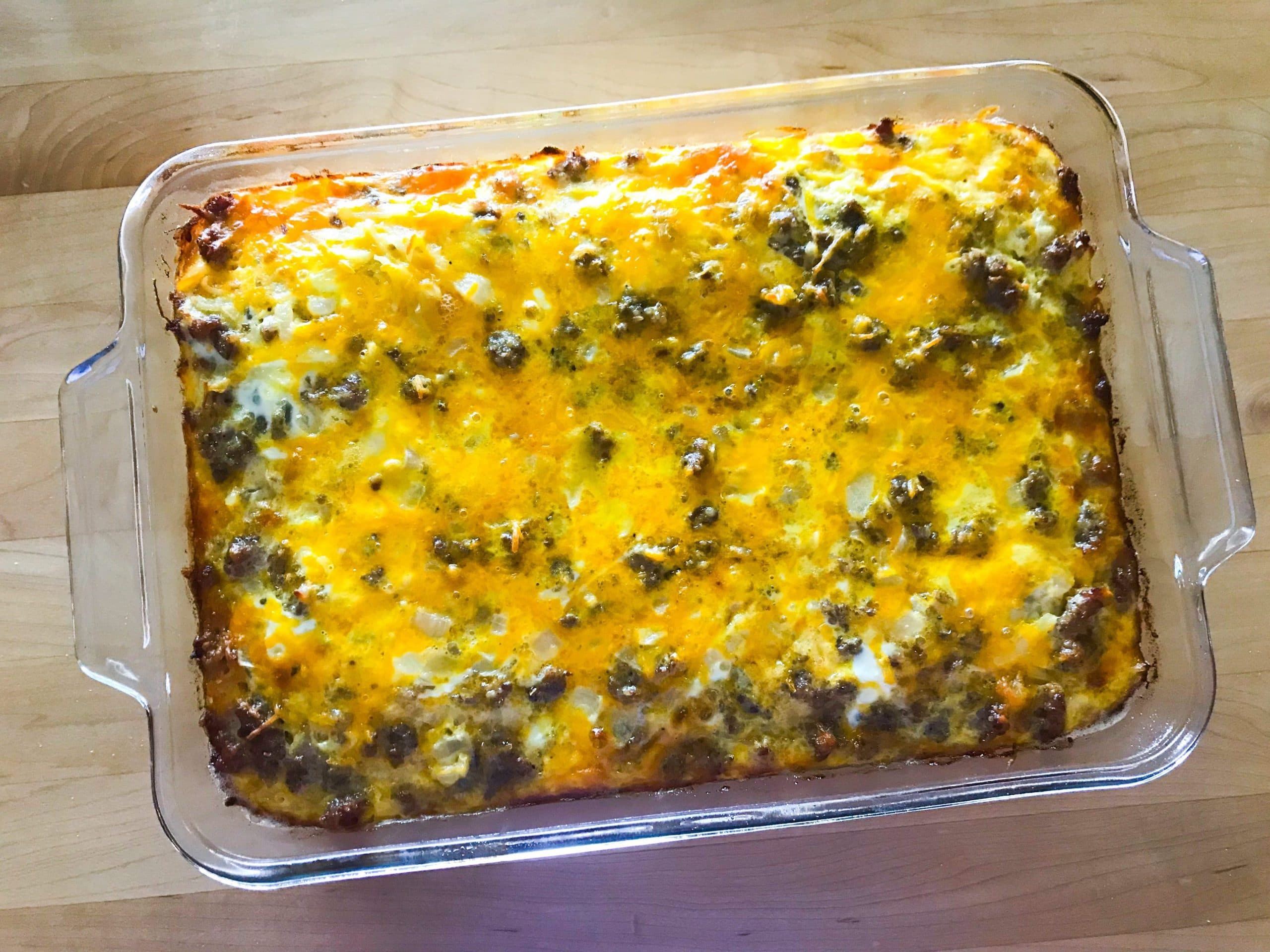 Easy Cheesy Overnight Egg Bake