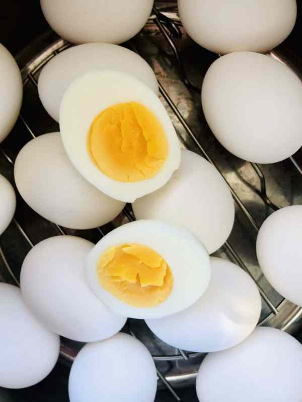 Hard boiled eggs are a staple. From a quick, on-the go breakfast or snack to a key ingredient for deviled eggs, Cobb Salad, egg salad, and more. Instant Pot Hard Boiled eggs are even easier than the stovetop version and are MUCH easier to peel. How to at KathleensCravings.com #InstantPotEggs #EasyPeelEggs #IPHardBoiledEggs