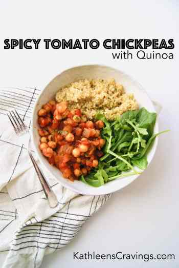 Spicy Tomato Chickpeas with Quinoa