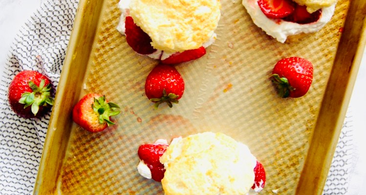 Classic Strawberry Shortcakes with Crème Fraîche Whipped Cream