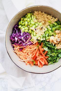 Vegan Thai Quinoa Salad ingredients