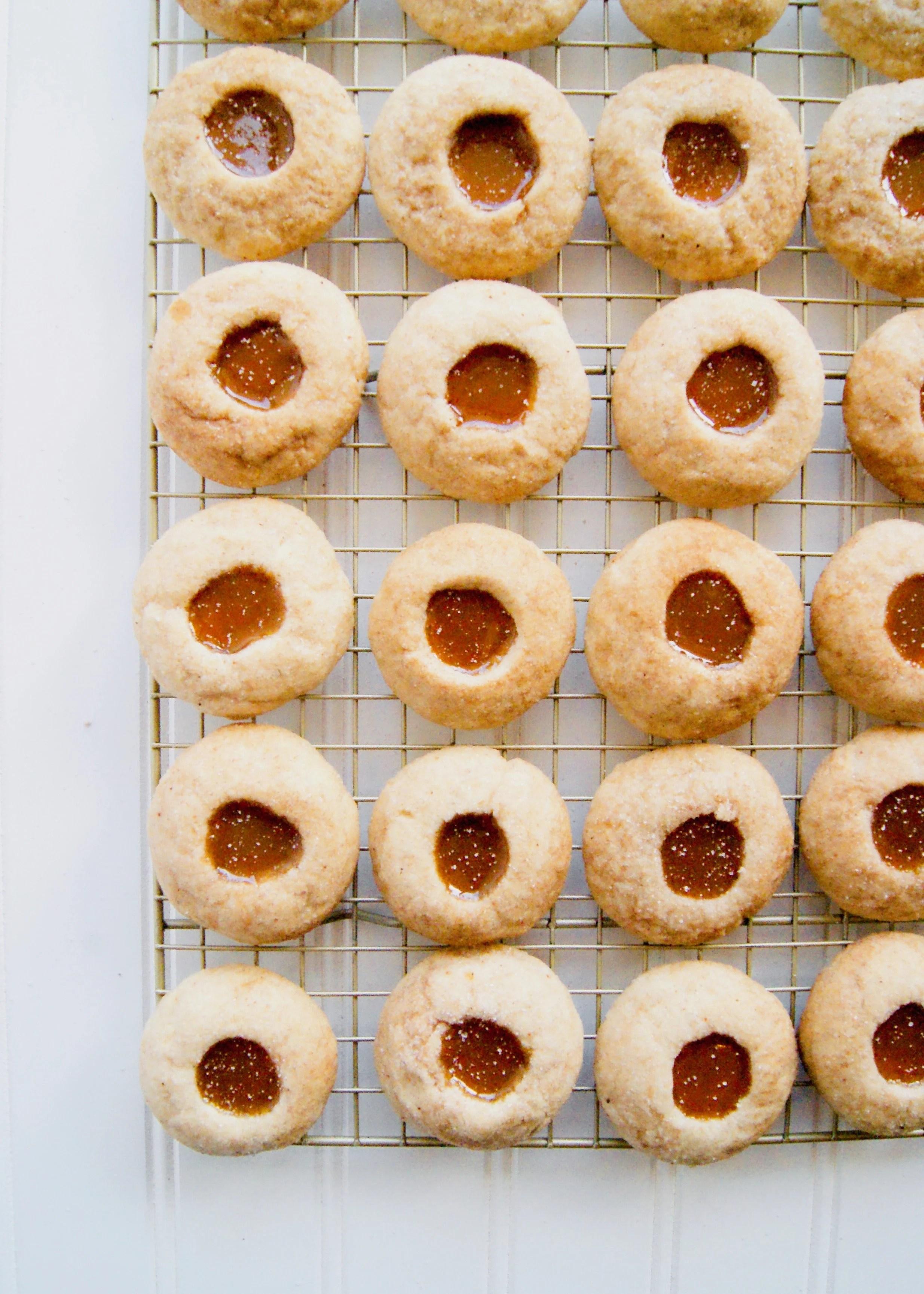 Caramel Apple Thumbprint Cookies