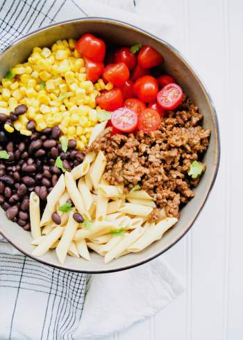 Healthy-Taco-Pasta-Salad-Ingredients