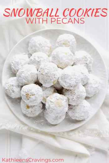 Snowball Cookies with Pecans with text