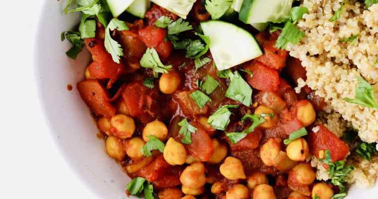Moroccan Chickpea Bowls