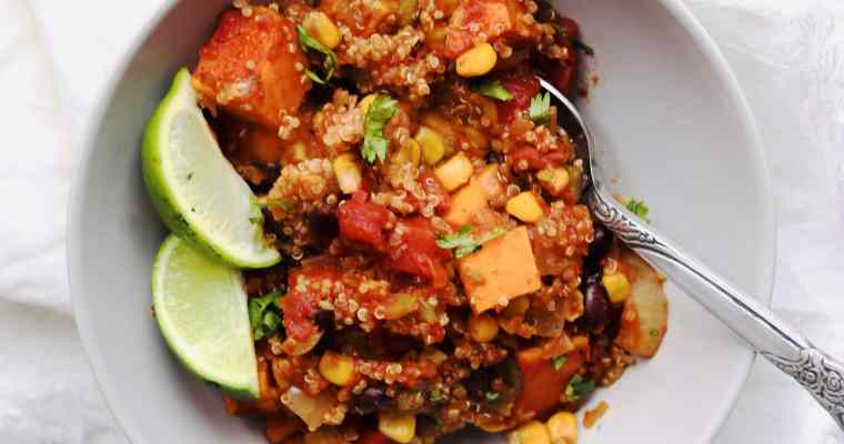 Vegan Slow Cooker Mexican Quinoa