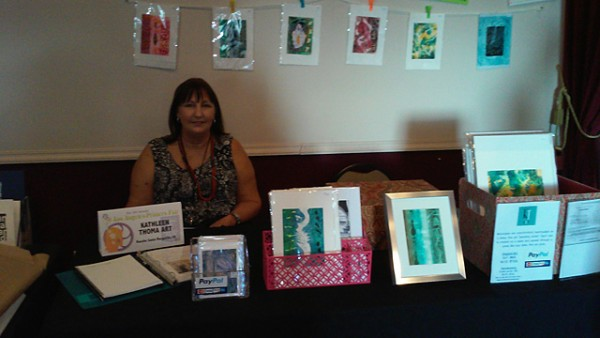 photo of table at LA Printer's fair
