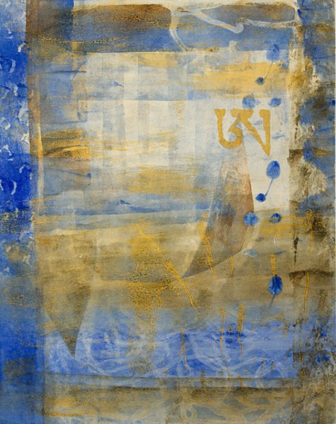 Meditations on Samsara-7, Kathleen Thoma, monotype & paint, 11x14 in