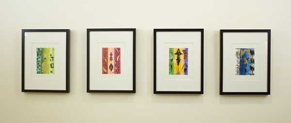 photo of first 4 of series, Invitations from the 7 planets,