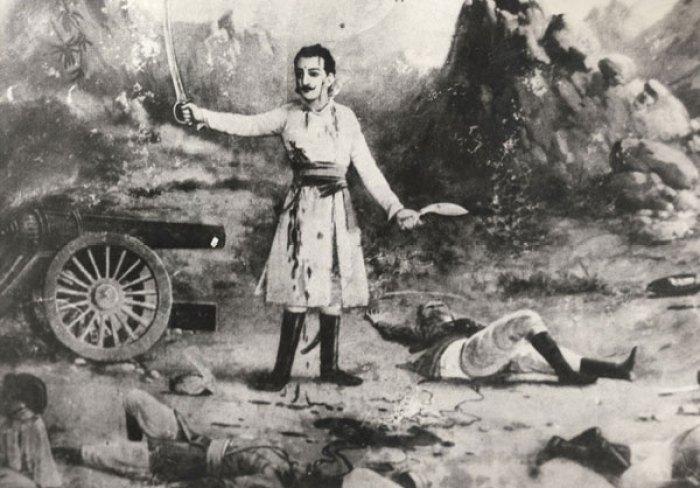 नेपाल–ब्रिटिस युद्धका नेपाली कमाण्डर बलभद्र कुवर सन् १८१४