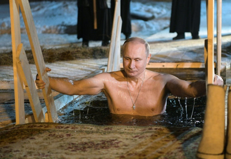 Vladimir Putin Strips for Jesus ... And Frozen Lake Dip