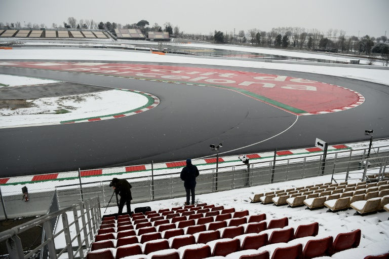 F1 testing delayed due to Barcelona snow