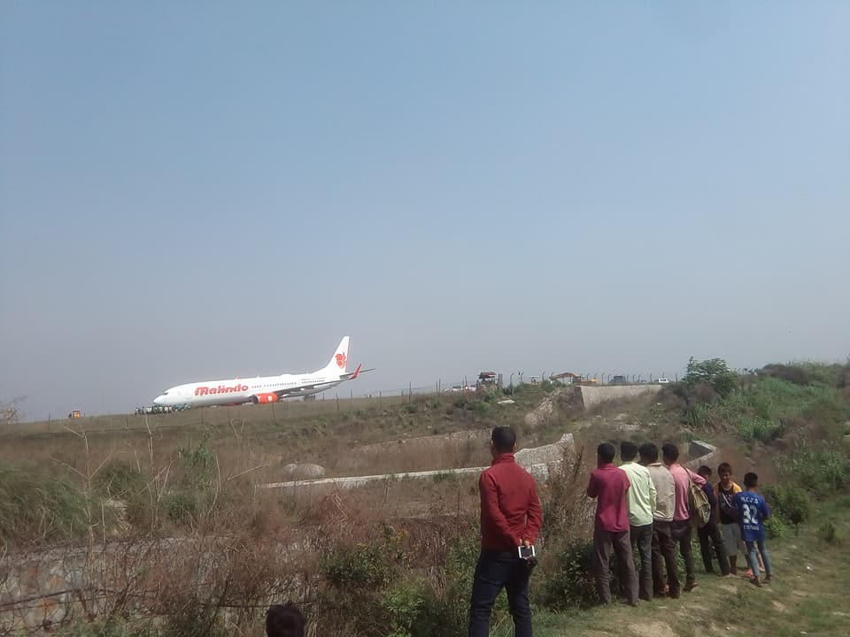 Nepal's airport shut after Malaysian plane skids off runway