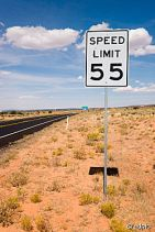 Road sign speed limit 55 USA