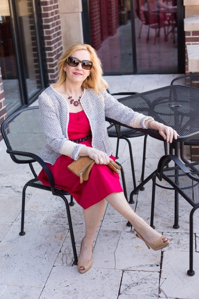 Scarlet Sweetheart with eShakti - Kathrine Eldridge, Wardrobe Stylist