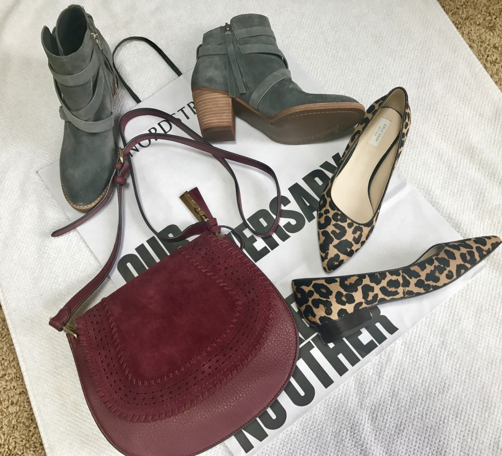 Sam Edelman booties, Cole Haan Flats and Vince Camuto bag from Nordstrom Anniversary Sale 2017