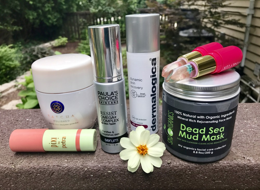 August Beatufy Favorites - Products by Tatcha, Pixi by Petra, Paula's Choice, Dermalogica, Winky Lux and Sky Organics