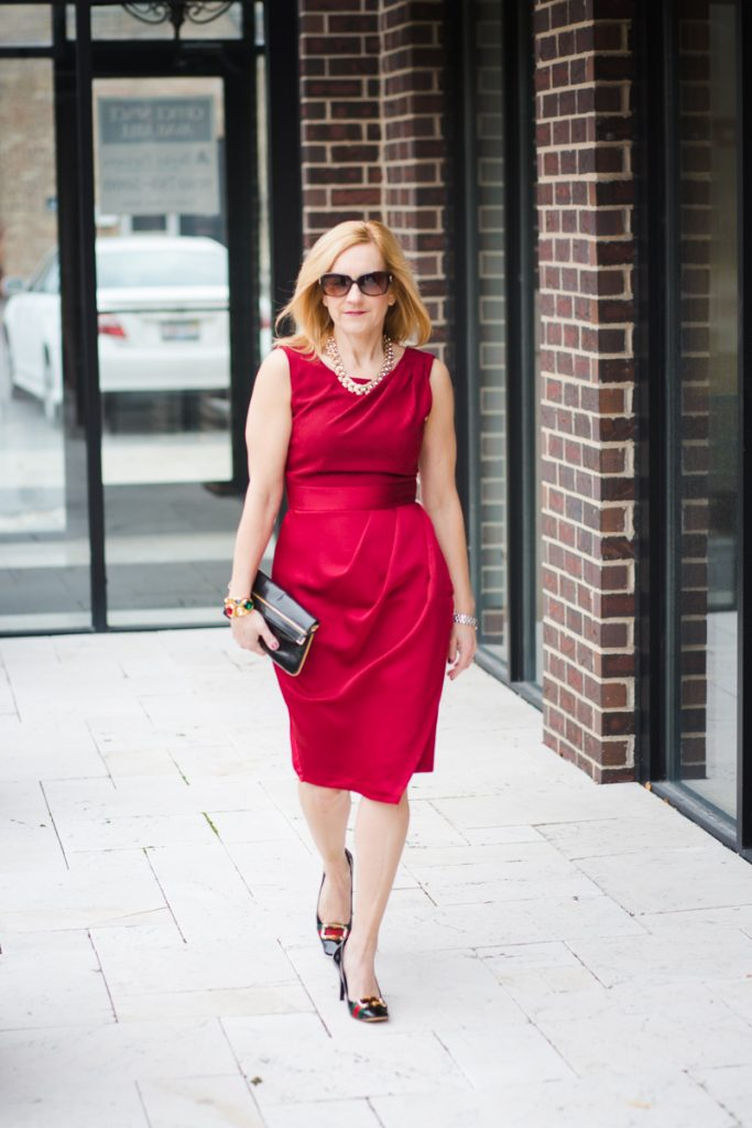 Red Holiday Dress from Closet London
