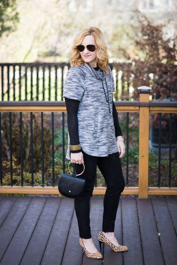Cowl Neck Sweater Chic + Vuliwear Sunglasses