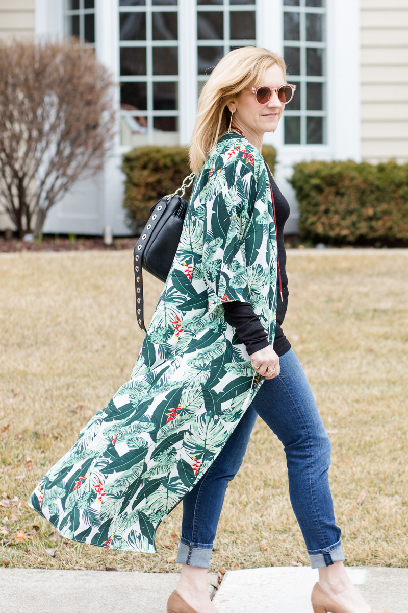 Palm Print Duster from the Box of Style