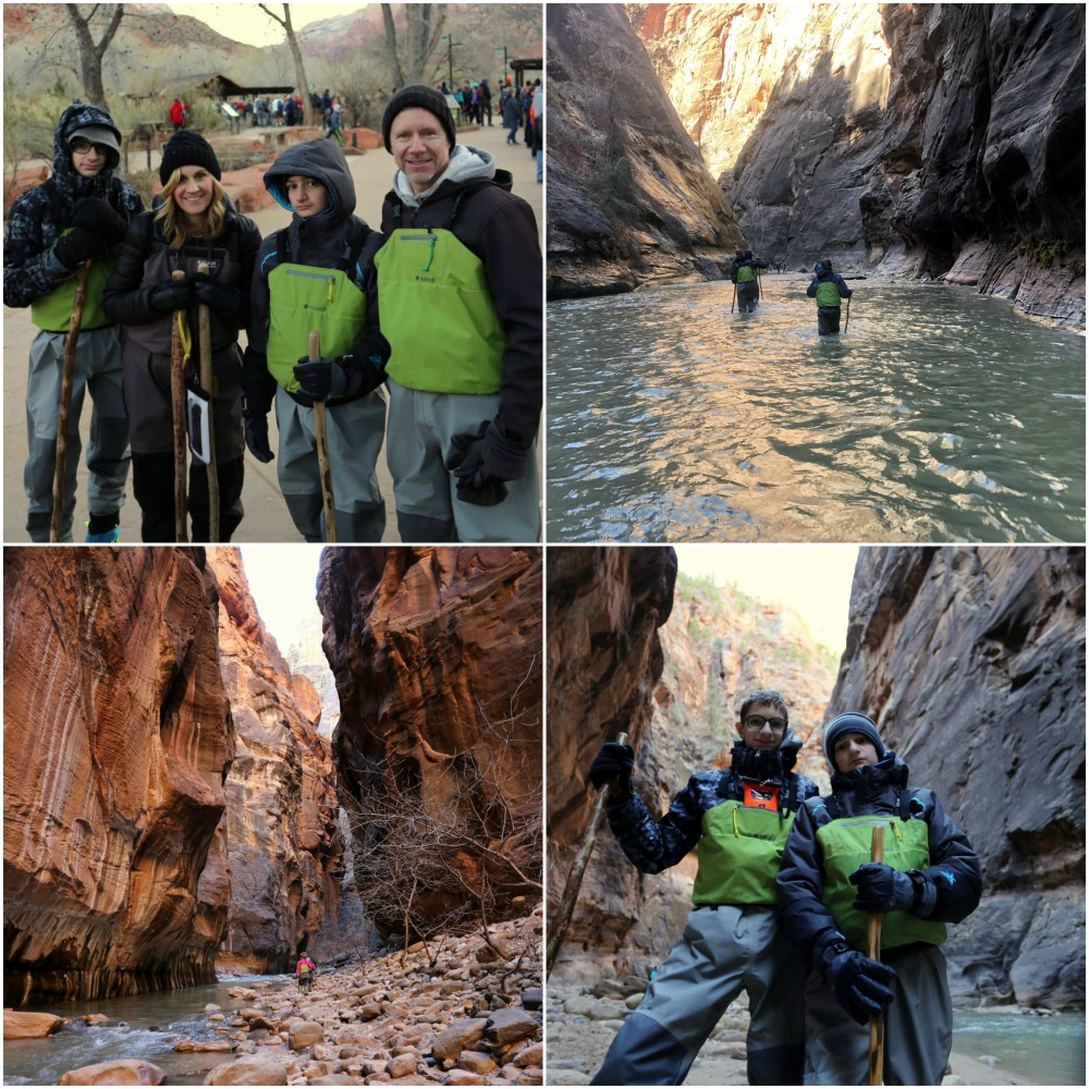 Family Pics of the Narrows Hike in Zion National Park
