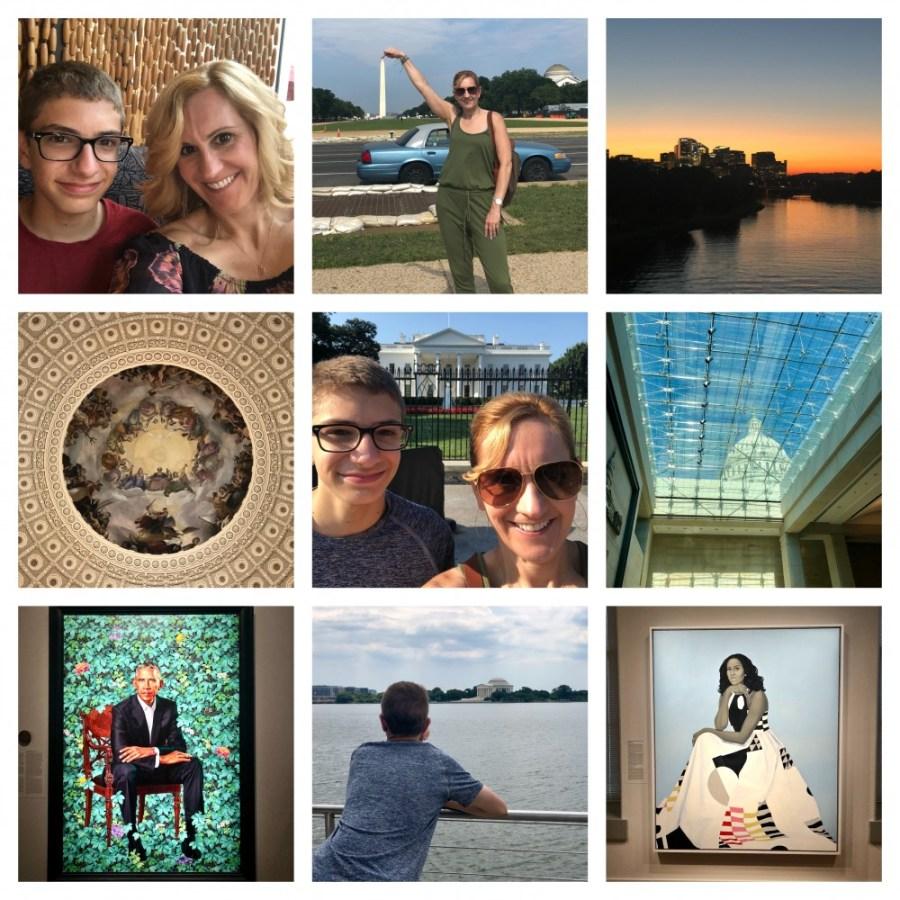 Random pics from our mother/son bonding trip to Washington, DC.