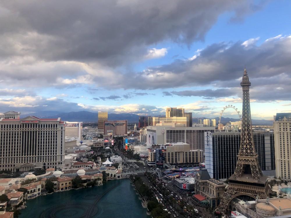 View from Terrace Studio room at the Cosmopolitan Hotel in Las Vegas