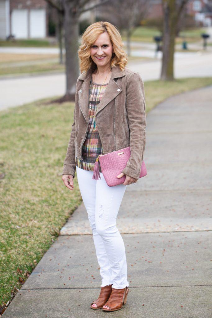 Spring Neutrals with a Pop of Pink by Kathrine Eldridge, Wardrobe Stylist