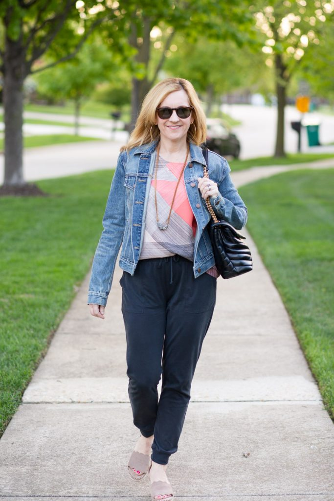 Sharing how to dress up joggers.