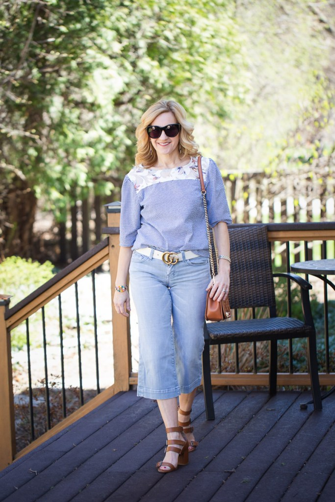 Styling Cropped Flared Jeans by Kathrine Eldridge, Wardrobe Stylist