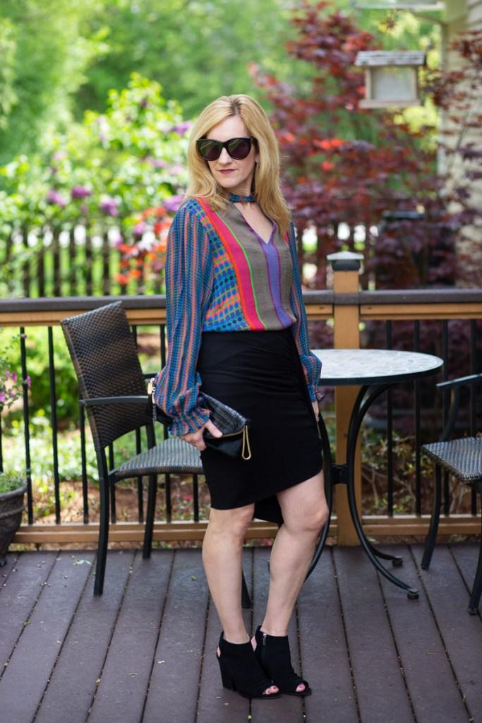 Colorful Peasant Blouse by Kathrine Eldridge, Wardrobe Stylist